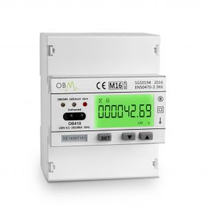 OB418 100 AMP Multi-function Electric Meter  MID Certified