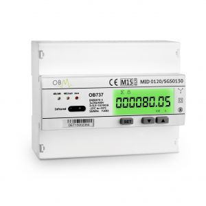 OB737-D 100 Amp Direct 3 Phase Electric Meter. MID Certified
