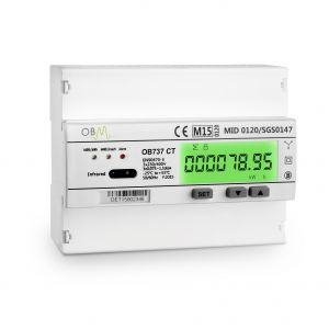OB737-CT 3 Phase CT Electric Meter. MID Certified