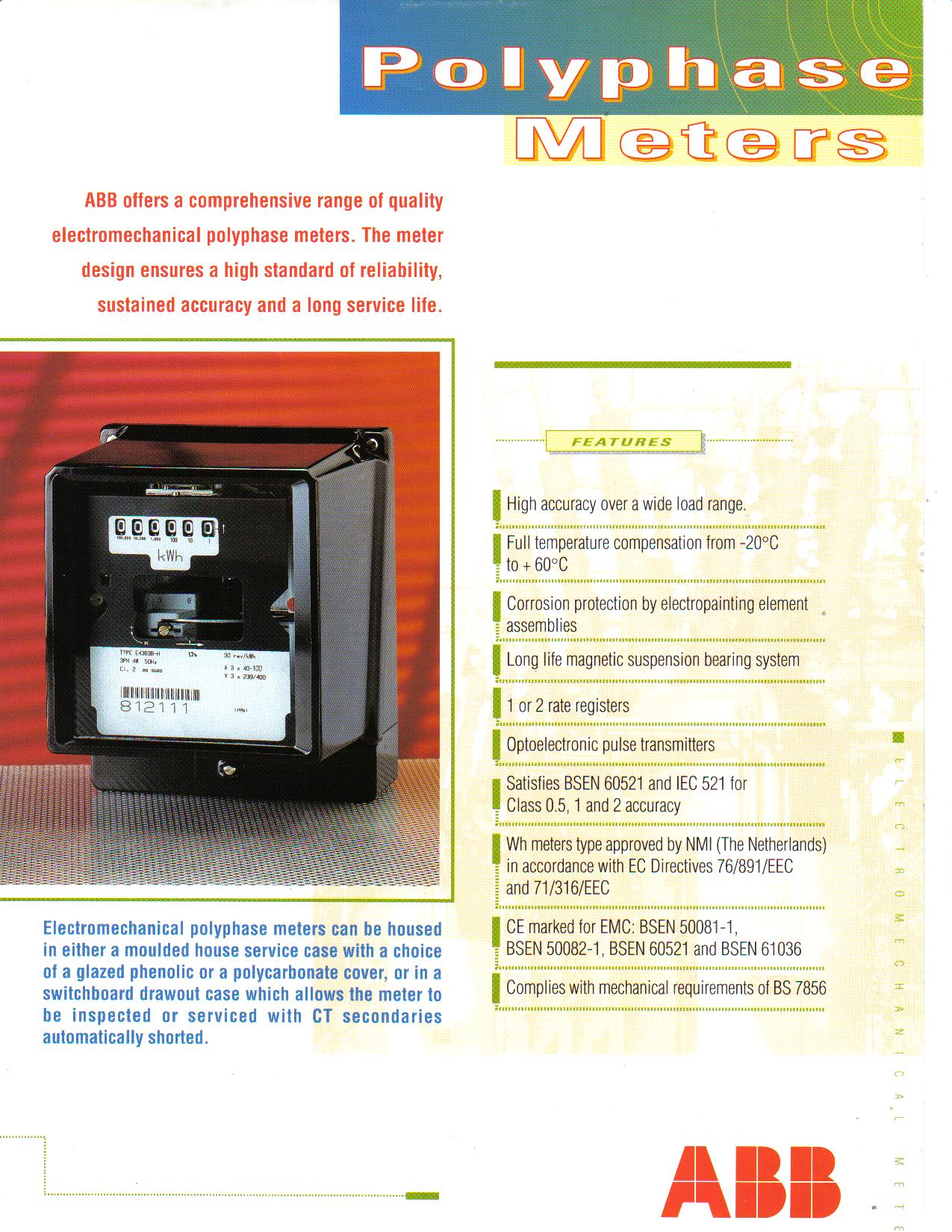 E43B Polyphase Meter