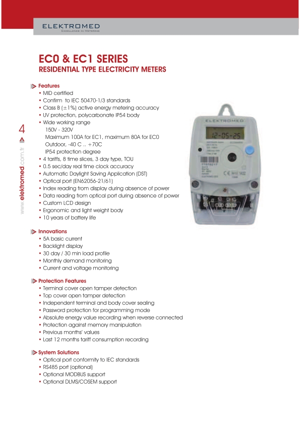 ECO Meter MID Approved with RS485